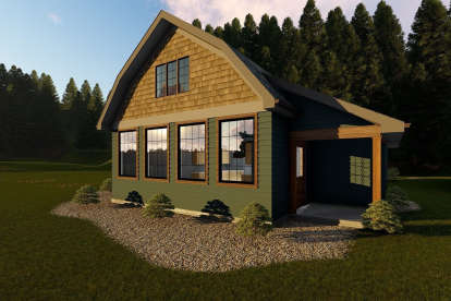 1 Bed, 1 Bath, 730 Square Foot House Plan - #963-00183