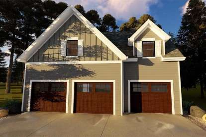 1 Bed, 1 Bath, 646 Square Foot House Plan - #963-00198
