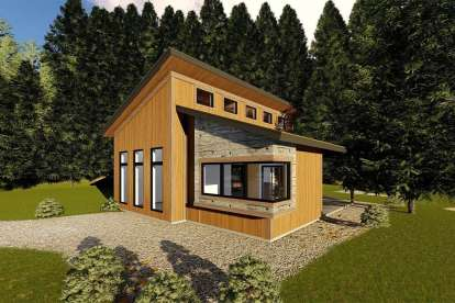 1 Bed, 1 Bath, 688 Square Foot House Plan - #963-00199