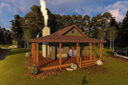1 Bed, 1 Bath, 576 Square Foot House Plan - #963-00203