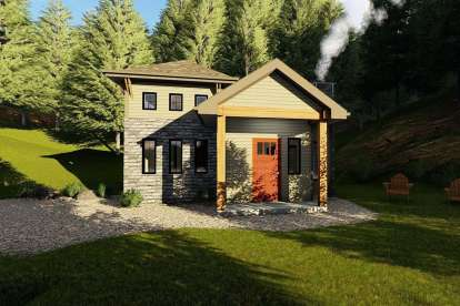 1 Bed, 1 Bath, 535 Square Foot House Plan - #963-00204