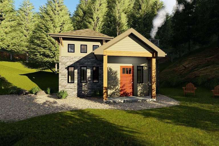 Cottage House Plan #963-00204 Elevation Photo