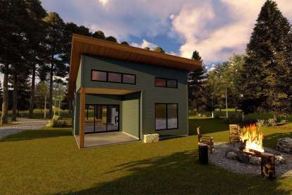1 Bed, 1 Bath, 485 Square Foot House Plan - #963-00205
