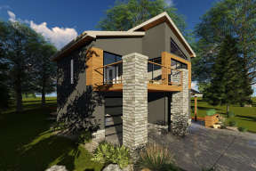 Contemporary House Plan #963-00206 Elevation Photo