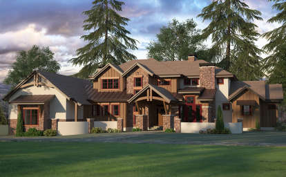 3 Bed, 3 Bath, 3446 Square Foot House Plan - #5631-00088
