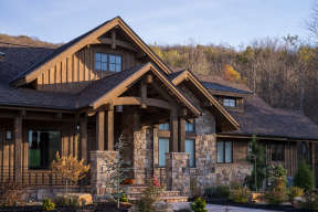 Mountain Rustic  House Plan #5631-00089 Elevation Photo