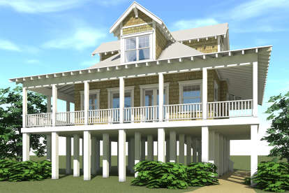 2 Bed, 2 Bath, 1527 Square Foot House Plan - #028-00034