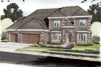 5 Bed, 3 Bath, 4096 Square Foot House Plan - #963-00220
