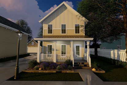 2 Bed, 2 Bath, 1228 Square Foot House Plan - #963-00223
