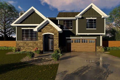 3 Bed, 2 Bath, 1329 Square Foot House Plan #963-00249