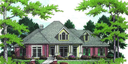 4 Bed, 2 Bath, 2682 Square Foot House Plan - #048-00169