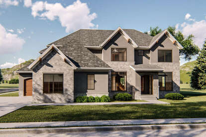 5 Bed, 3 Bath, 3484 Square Foot House Plan - #963-00260