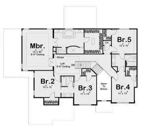Second Floor for House Plan #963-00260