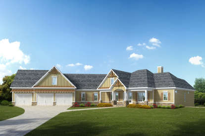 4 Bed, 4 Bath, 2971 Square Foot House Plan - #6082-00134