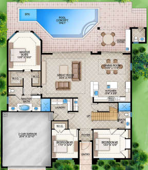 Main Floor for House Plan #5565-00020