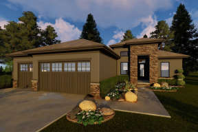 Contemporary House Plan #963-00301 Elevation Photo