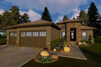 3 Bed, 2 Bath, 1734 Square Foot House Plan - #963-00301