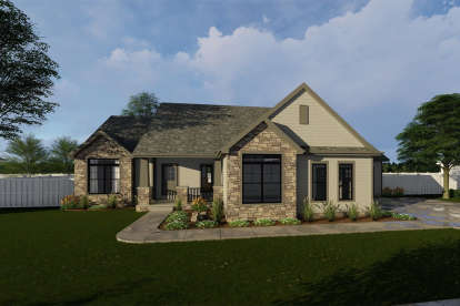 3 Bed, 2 Bath, 2070 Square Foot House Plan #963-00310