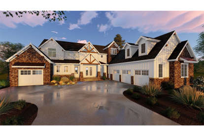 4 Bed, 3 Bath, 4732 Square Foot House Plan - #963-00317