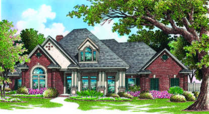4 Bed, 3 Bath, 2710 Square Foot House Plan - #048-00175