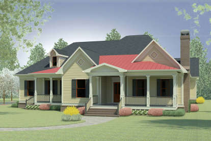 4 Bed, 3 Bath, 2974 Square Foot House Plan - #6082-00136