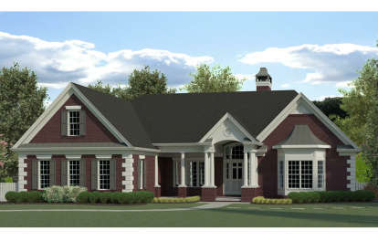 4 Bed, 3 Bath, 2971 Square Foot House Plan - #6082-00137