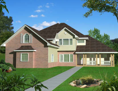 5 Bed, 5 Bath, 5707 Square Foot House Plan - #039-00514