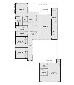 Second Floor for House Plan #028-00137