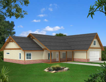 3 Bed, 2 Bath, 2839 Square Foot House Plan - #039-00516