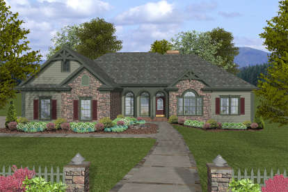 4 Bed, 2 Bath, 2000 Square Foot House Plan - #036-00236