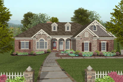 3 Bed, 2 Bath, 2000 Square Foot House Plan #036-00238