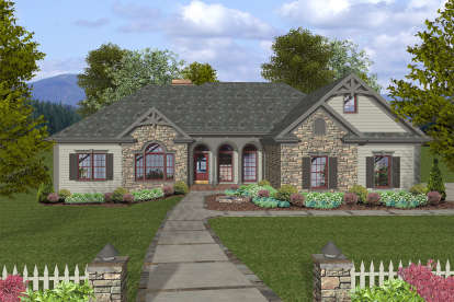 3 Bed, 2 Bath, 2000 Square Foot House Plan - #036-00241