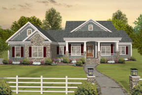 Country House Plan #036-00243 Elevation Photo