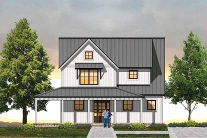 3 Bed, 2 Bath, 1630 Square Foot House Plan - #8504-00127