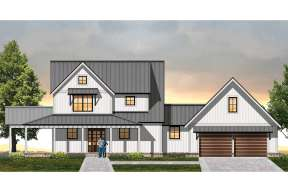 Modern Farmhouse House Plan #8504-00128 Elevation Photo