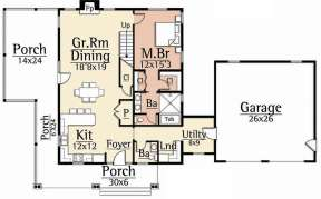 Main Floor  for House Plan #8504-00128