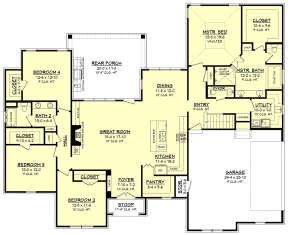 Main Floor for House Plan #041-00173