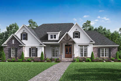 4 Bed, 2 Bath, 2589 Square Foot House Plan #041-00174