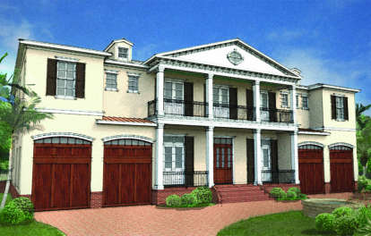 6 Bed, 5 Bath, 5076 Square Foot House Plan - #3978-00045