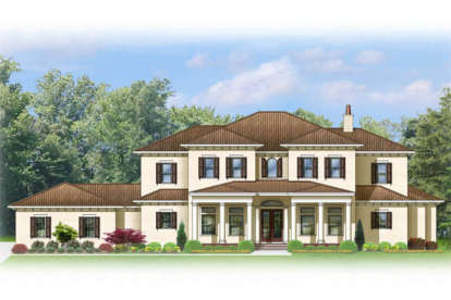 4 Bed, 5 Bath, 5392 Square Foot House Plan - #3978-00048