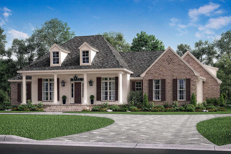 French Country House Plan #041-00175 Elevation Photo