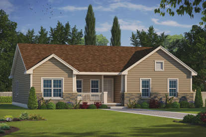2 Bed, 2 Bath, 1722 Square Foot House Plan #402-01542