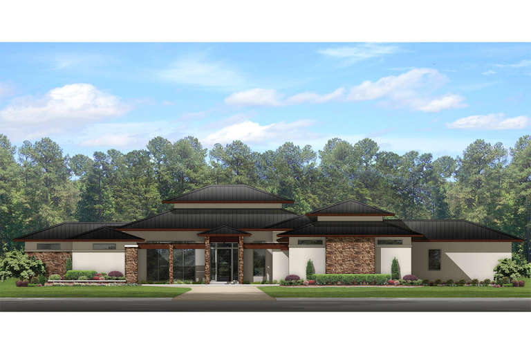 Contemporary House Plan #3978-00056 Elevation Photo