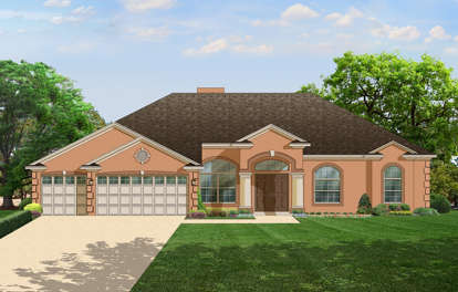 4 Bed, 3 Bath, 2405 Square Foot House Plan - #3978-00069