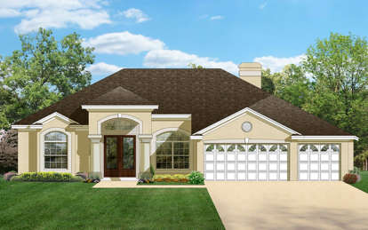 4 Bed, 3 Bath, 2448 Square Foot House Plan - #3978-00071