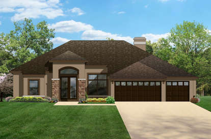 4 Bed, 3 Bath, 2448 Square Foot House Plan - #3978-00072