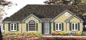 Ranch House Plan #033-00024 Elevation Photo