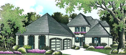 4 Bed, 3 Bath, 2918 Square Foot House Plan - #048-00179