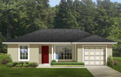 2 Bed, 1 Bath, 820 Square Foot House Plan #3978-00081