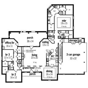 Floorplan 1 for House Plan #048-00181